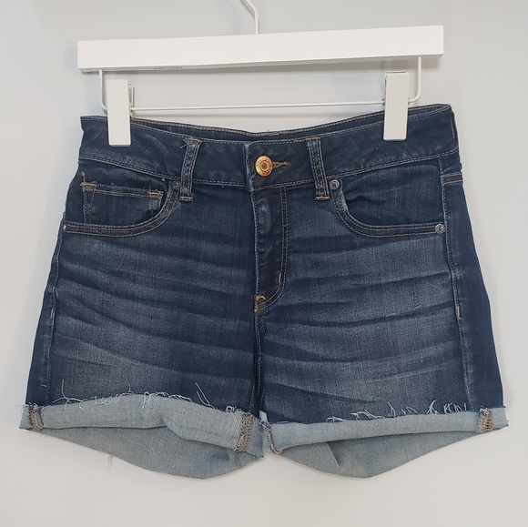 American Eagle Outfitters Pants - AEO Cafe Midi Denim Jean Shorts